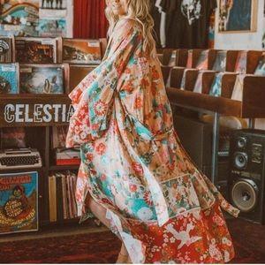 Spell Designs Delilah Maxi Kimono O/S ❤️🌸🌼🍑